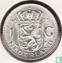 Nederland 1 gulden 1955 (kleinere 2e 5 in jaartal)