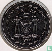 "Belize 25 cents 1978 ""Blue-crowned motmot"""