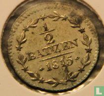 Aargau ½ batzen 1815