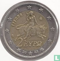 Greece 2 euro 2002 (without S)