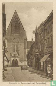 Deventer - Engestraat met Broerekerk