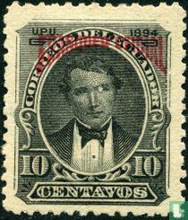 Vicente Rocafuerte mit aufdruck