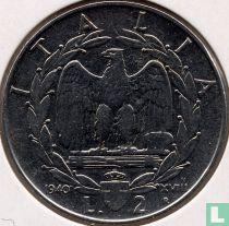 Italien 2 Lire 1940 (nicht magnetisch)