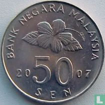 Maleisië 50 sen 2007