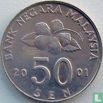 Maleisië 50 sen 2001