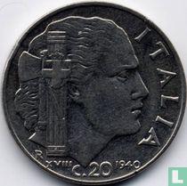 Italien 20 Centesimi 1940 XVIII (nicht magnetisch - reeded)