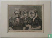 La mere Block et ses deux filles, a Kruiningen (Zeeland)