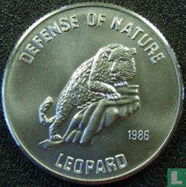 "Afghanistan 500 Afghanen 1986 (PROOF) ""Leopard"""