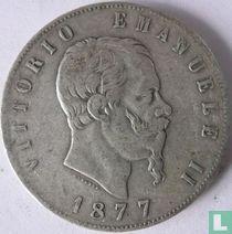 Italië 5 lire 1877