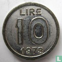 Italië 10 lire 1973 - Giocattoli Vama