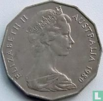 Australia 50 cents 1980 (without bars behind emu)