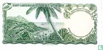 East Caribbean Currency Authority Antigua 5 dollars 1965