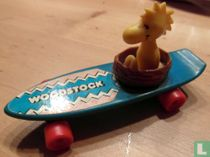 Woodstock on skateboard