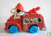 Snoopy als brandweerman