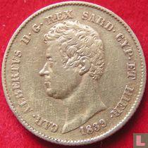 Sardinië 20 lire 1839 (Turijn)