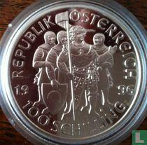 "Austria 100 schilling 1996 (PROOF) ""Margrave Leopold III"""