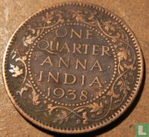 Brits-Indië quarter anna 1938 (Calcutta)