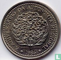 """Açores 100 escudos 1986 """"10th Anniversary of Regional Autonomy"""""""
