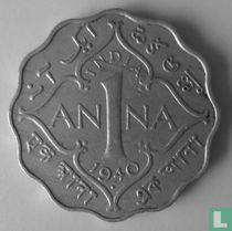Brits-Indië 1 anna 1940 (Bombay - grote kroon)