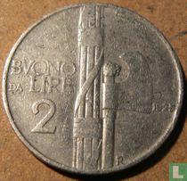 Italien 2 Lire 1925