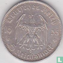 "Duitse Rijk 5 reichsmark 1935 (F) ""1st Anniversary of Nazi Rule - Potsdam Garrison Church"""