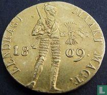Netherlands ducat 1809 (standing knight)