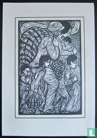 Chris Lebeau - houtsnede, 1924