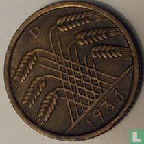 Duitse Rijk 10 reichspfennig 1934 (D)