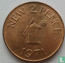 Guernsey 2 pence 1971