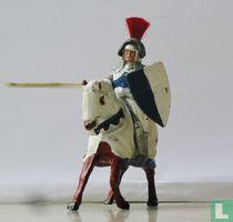 Sir Percival mounted