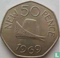 Guernsey 50 new pence 1969