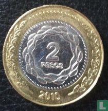 "Argentina 2 pesos 2011 ""Bicentenary of Revolution of May 1810"""