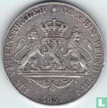 Nassau 1 thaler 1859