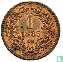 Hongarije 1 krajczar 1885