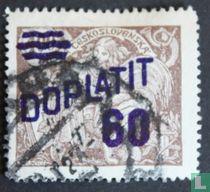 Postzegel van 1920-1925 met overdruk