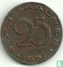 Aachen 25 Pfennig 1921