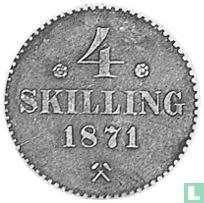 Norwegen 4 Skilling 1871