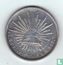 Mexico 1 peso 1908 (Mo AM)
