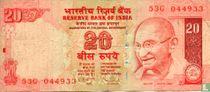 India 20 Rupees 2010
