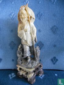 Hand carved soapstone sculpture of Taoist