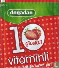 10 vitaminli çilekli