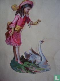 Meisje met zwaan