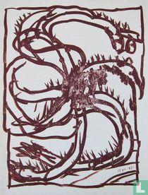 Alechinsky - compositie, 1981
