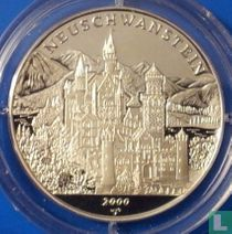 "Cuba 10 pesos 2000 (PROOF) ""Palaces of the World - Neuschwanstein Castles"""