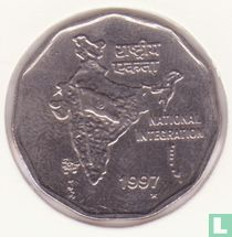 "Inde 2 roupies 1997 (Taegu) ""National Integration"""