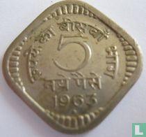 India 5 naye paise 1963 (Bombay)
