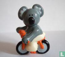 Koala on bicycle