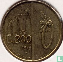 "San Marino 200 lire 1993 ""Door and Arches"""