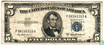 Verenigde Staten 5 dollar 1953 silver certificate (blue seal)