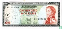 East Caribbean Currency Authorithy 100 dollars Saint Vincent 1965